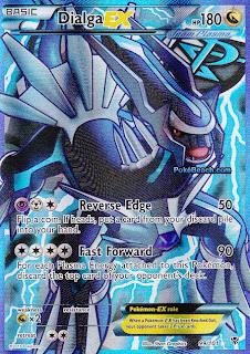 Dialga EX Full Art Plasma Blast Pokemon Card