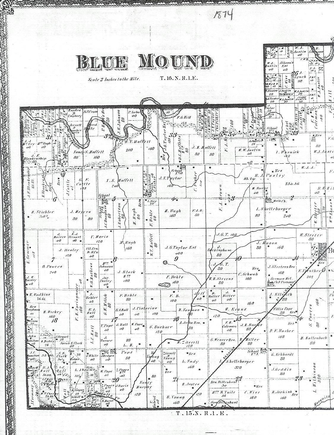 they may show individual lots with names of lot owners i have found plat maps in both family history centers and county courthouses
