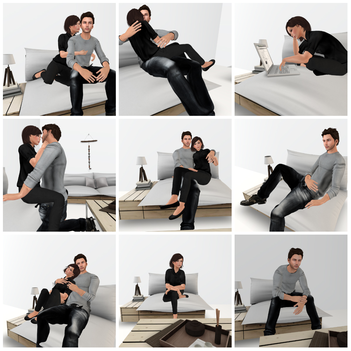 Charmant The Couch Has Couples Poses For MF, FF And MM Couples. You Can Sit,  Recline, Surf The Net, Drink Coffee, Eat Popcorn, Cuddle, Or Get Intimate  With This ...