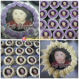 CUP CAKES EDIBLE IMAGE