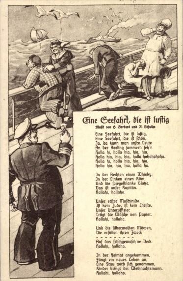 Maritime Bad Godesberg : Eine Seefahrt, die ist lustig  (Liedkarte)