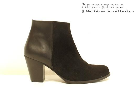 Boots cuir et daim Anonymous