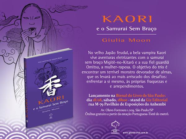 Kaori e O Samurai Sem Braço da Giulia Moon, Giz Editorial, na 22ª Bienal Internacional do Livro de São Paulo