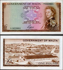 Malta QEII - One Pound Note