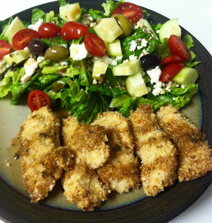 salad chicken greek dinner yum healthy clean eating recipe balsamic dressing homemade