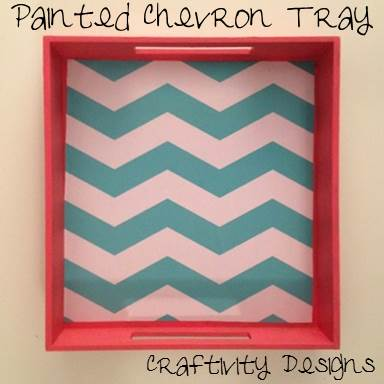 Painted Chevron Tray