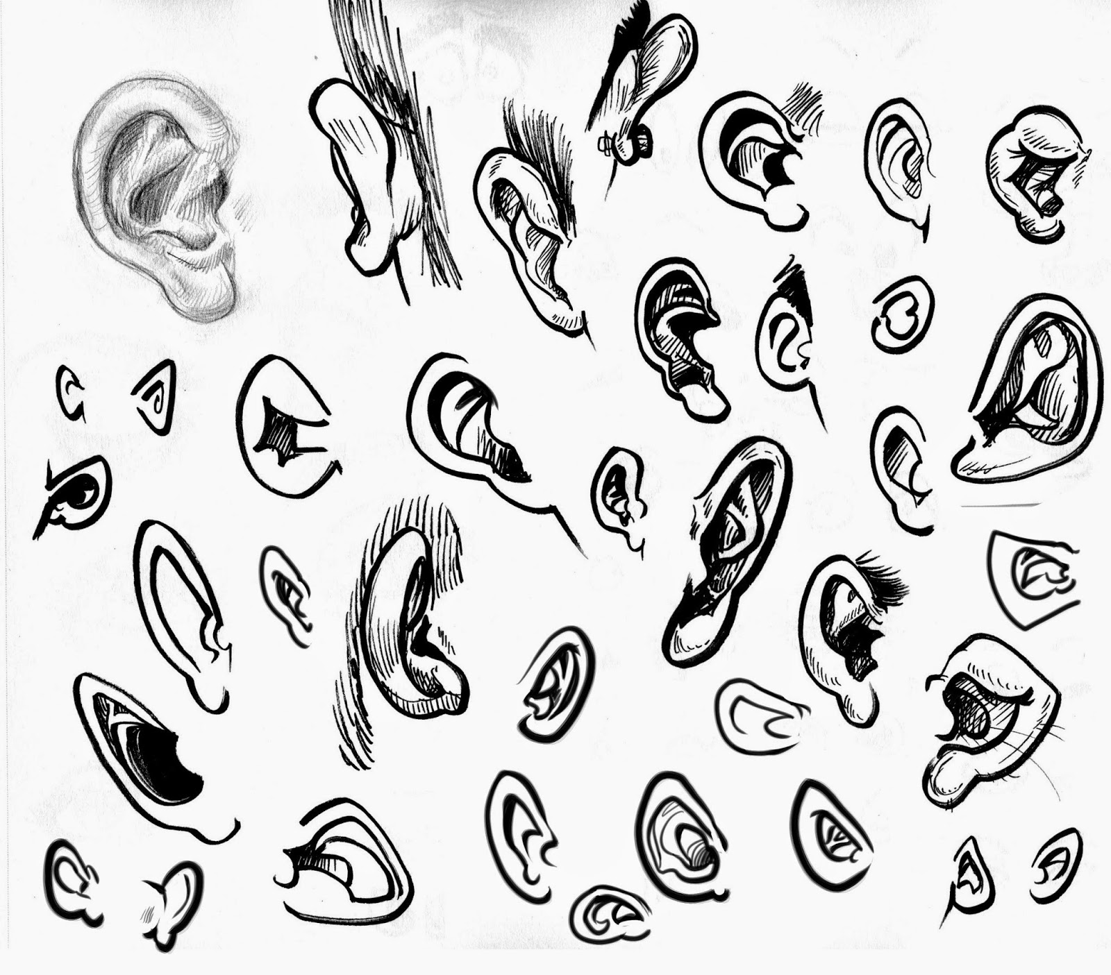 Character Design Noses : Daily sketches art by chris character design class