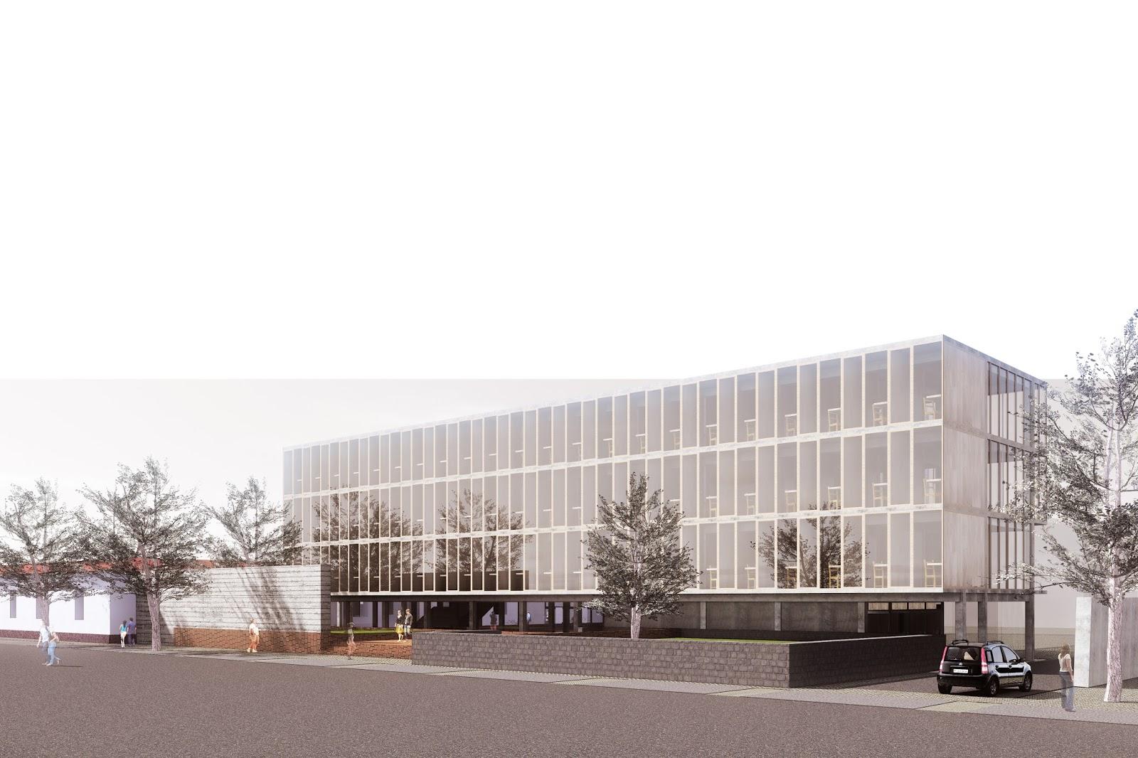 Studio medida arquitectos anteproyecto del edificio for Arquitectura de interiores universidades