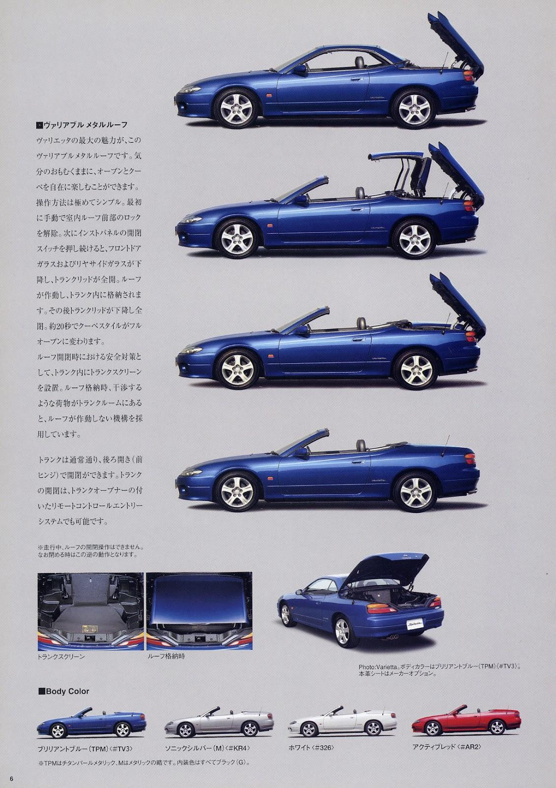 Nissan Silvia Varietta S15, japoński kabriolet, cabrio, convertible, bez dachu, samochody z Japonii, JDM, zdjęcia, sportowe auta