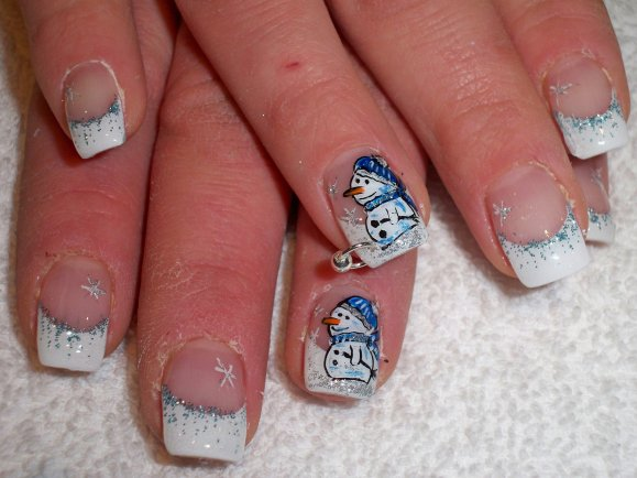 Santa Claus Nail Art for Christmas, Santa Claus Nail Art, Christmas Nail Art