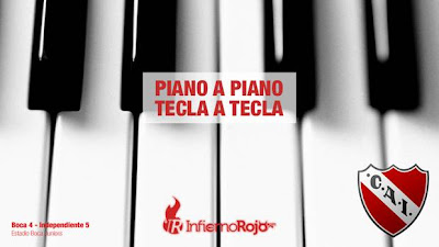 afiche independiente piano tecla