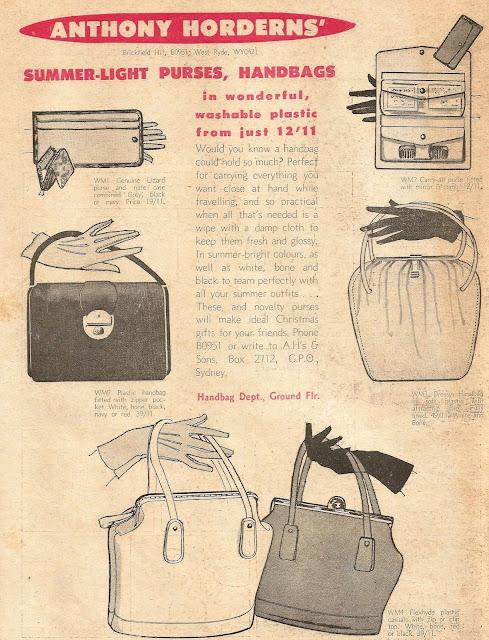 1950s vintage handbag ad