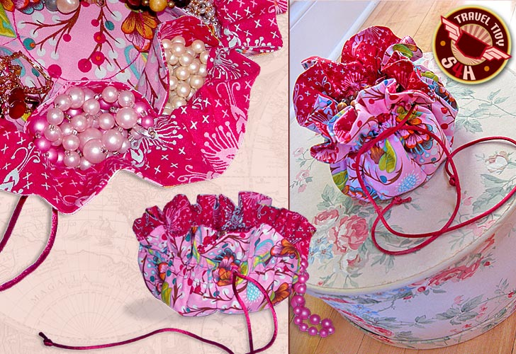 travel jewelry bag tutorials to make the beading gem 39 s On fabric jewelry pouch pattern