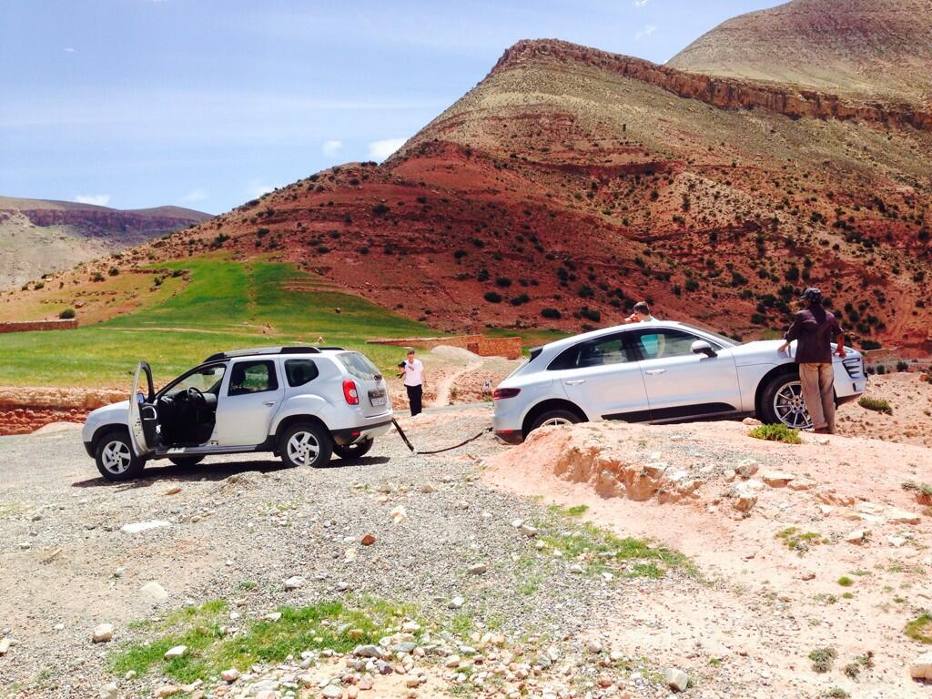 The Truth Behind the Stuck Porsche Macan at Press Day in Morocco