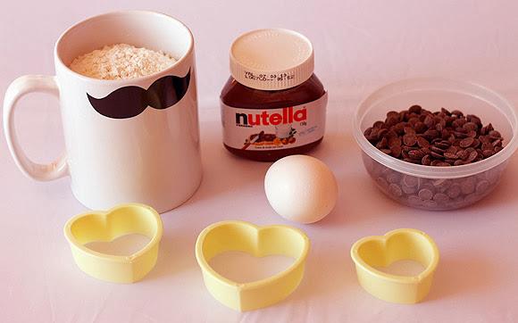 cookies nutella receita