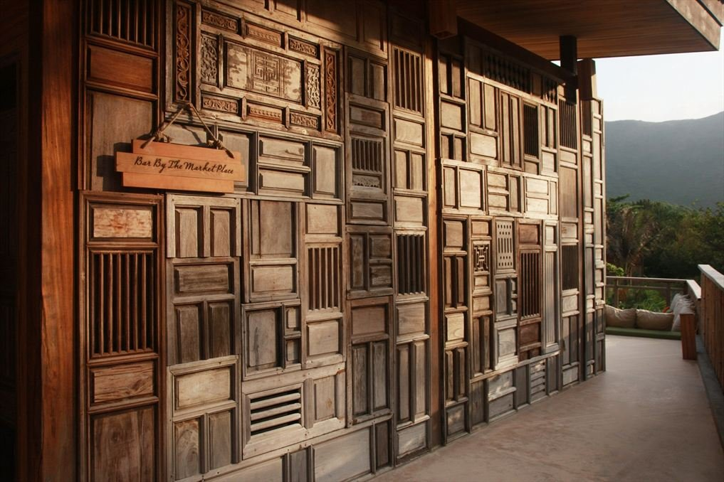 Modern hotel with the exterior interior wood free for Design hotel vietnam
