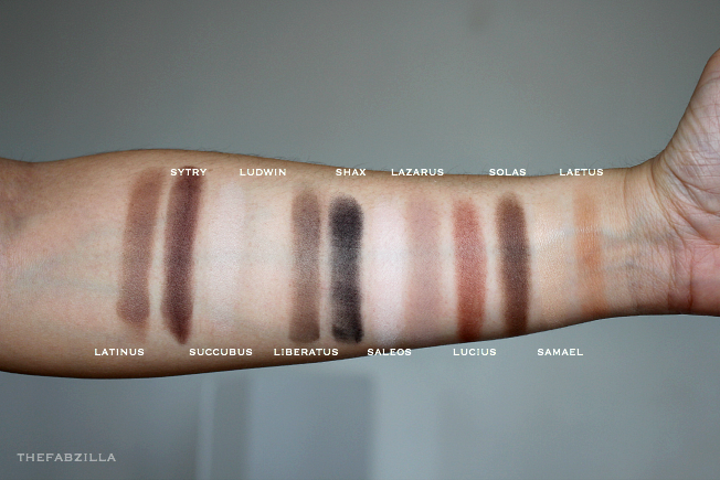 Kat Von D Shade + Light Eye Contour Palette, Review, Swatch, neutral palette, sytry,succubius,samael,lucius