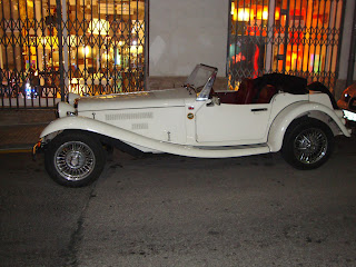 Classic white car - Sant Carles de La Rápita