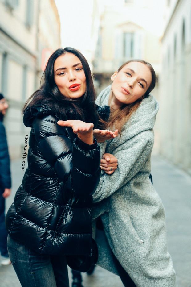 Irina Sharipova and Stasha Yatchuk, Milano, January 2016