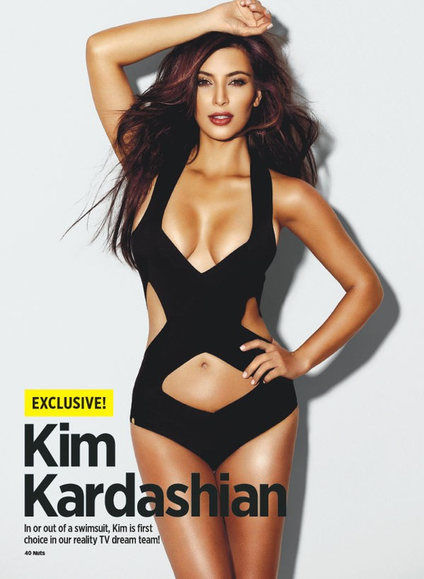 Kim Kardashian hot Nuts magazine