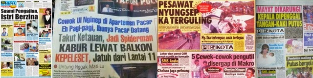 Jurnalisme Kuning, Bombastis dan Sensasional
