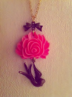 Rose Swallow Necklace