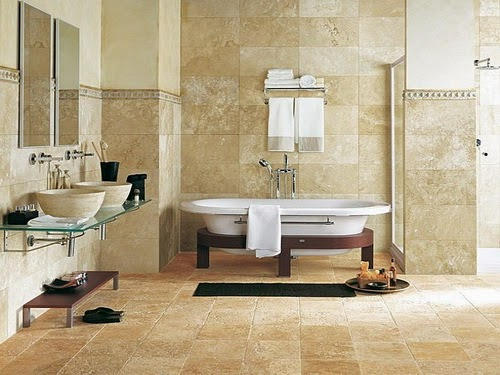 Bathroom Stone Floor Ideas
