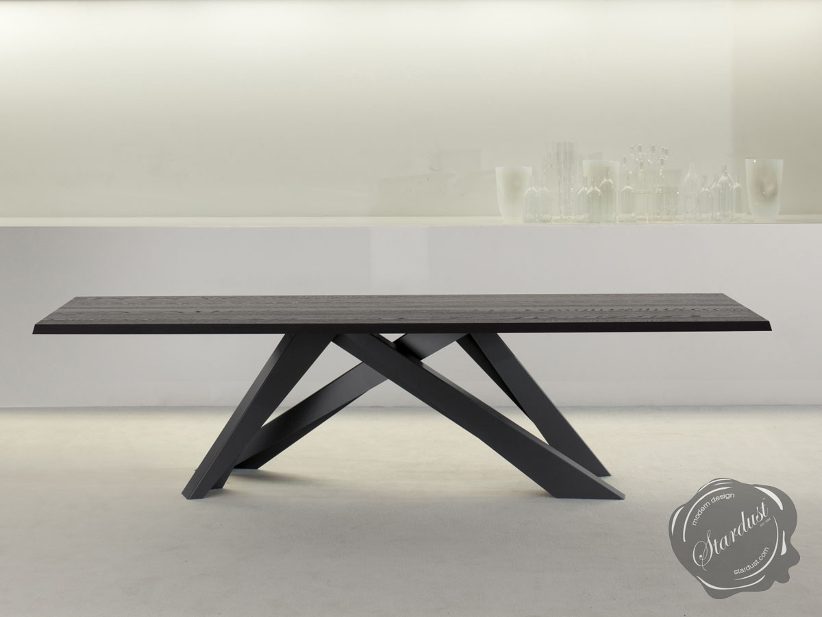 Dining room tables bonaldo italian contemporary modern for Big modern dining table