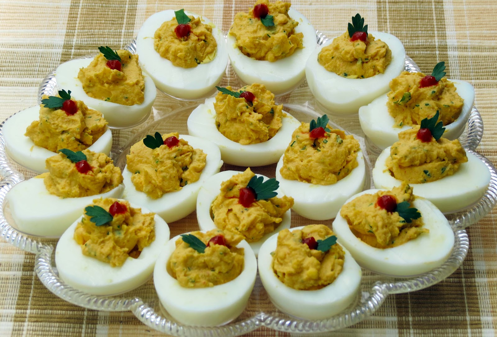 Dinner with the Welches: Sriracha Deviled Eggs