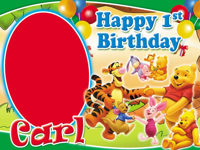 Winnie the Pooh Birthday Layout | CustomizePrintShop