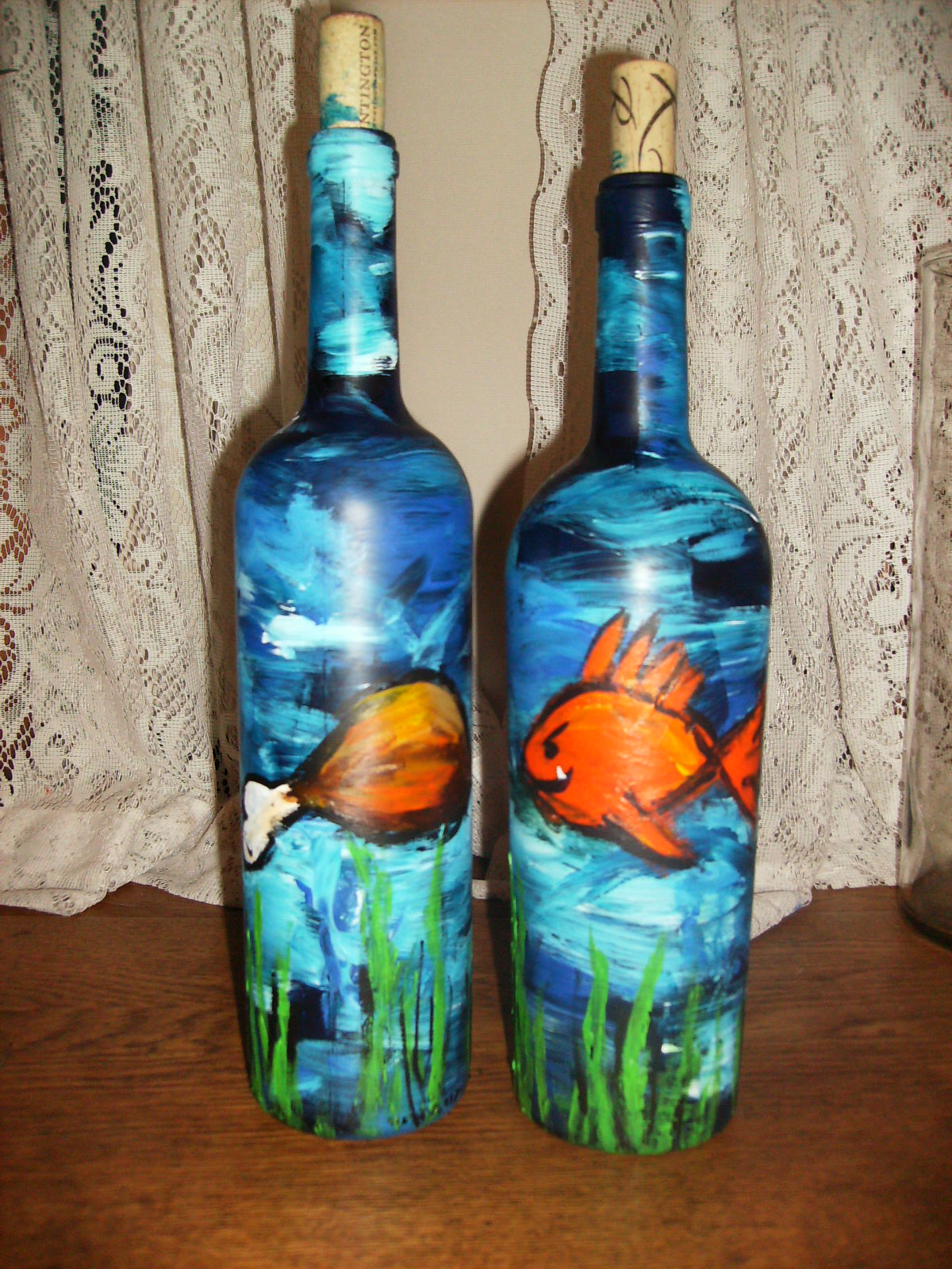 bottle art painting  B. Martin Art: Wine Bottle Painting