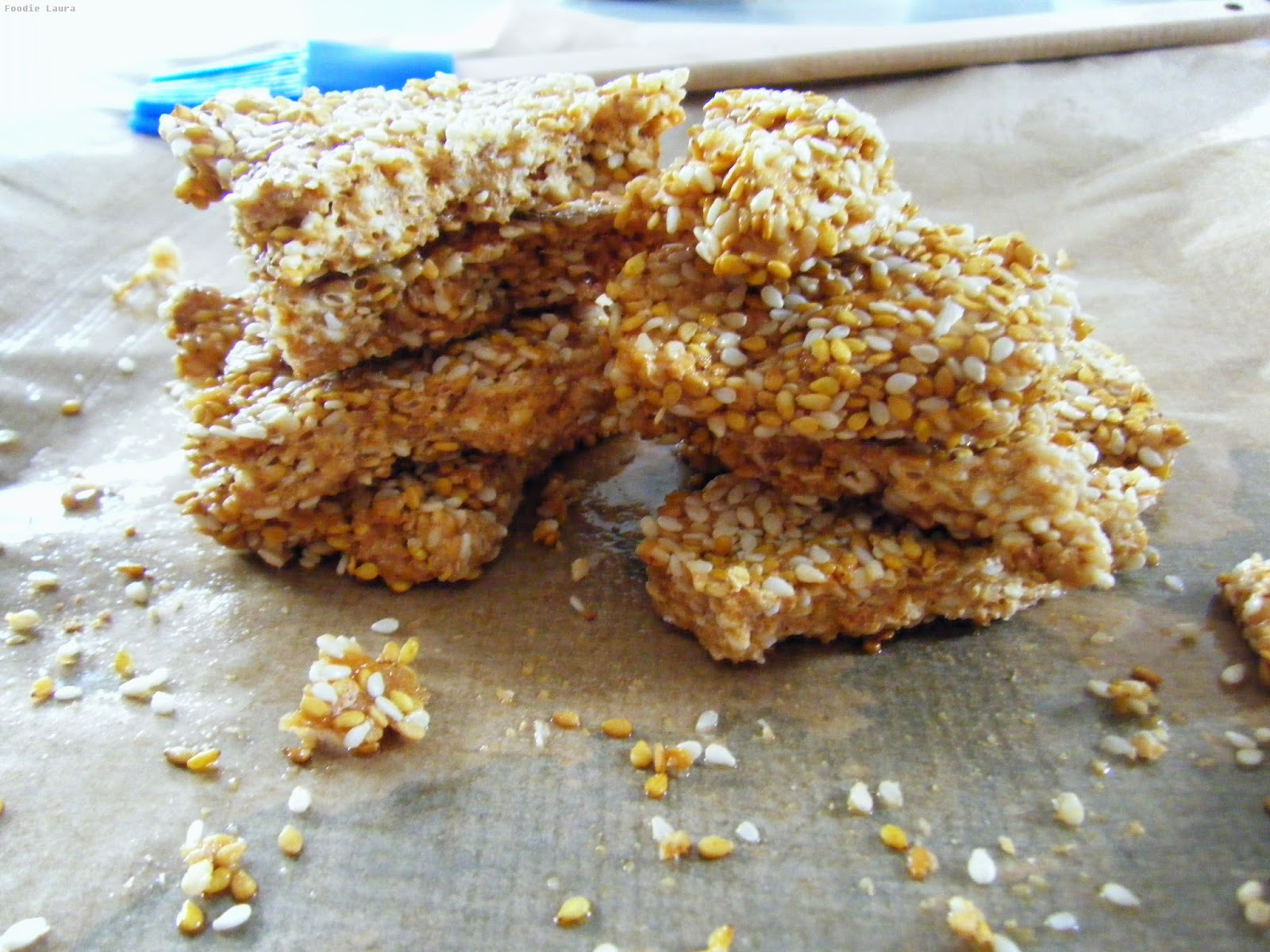 sesame brittle this sesame brittle broken up into shard and