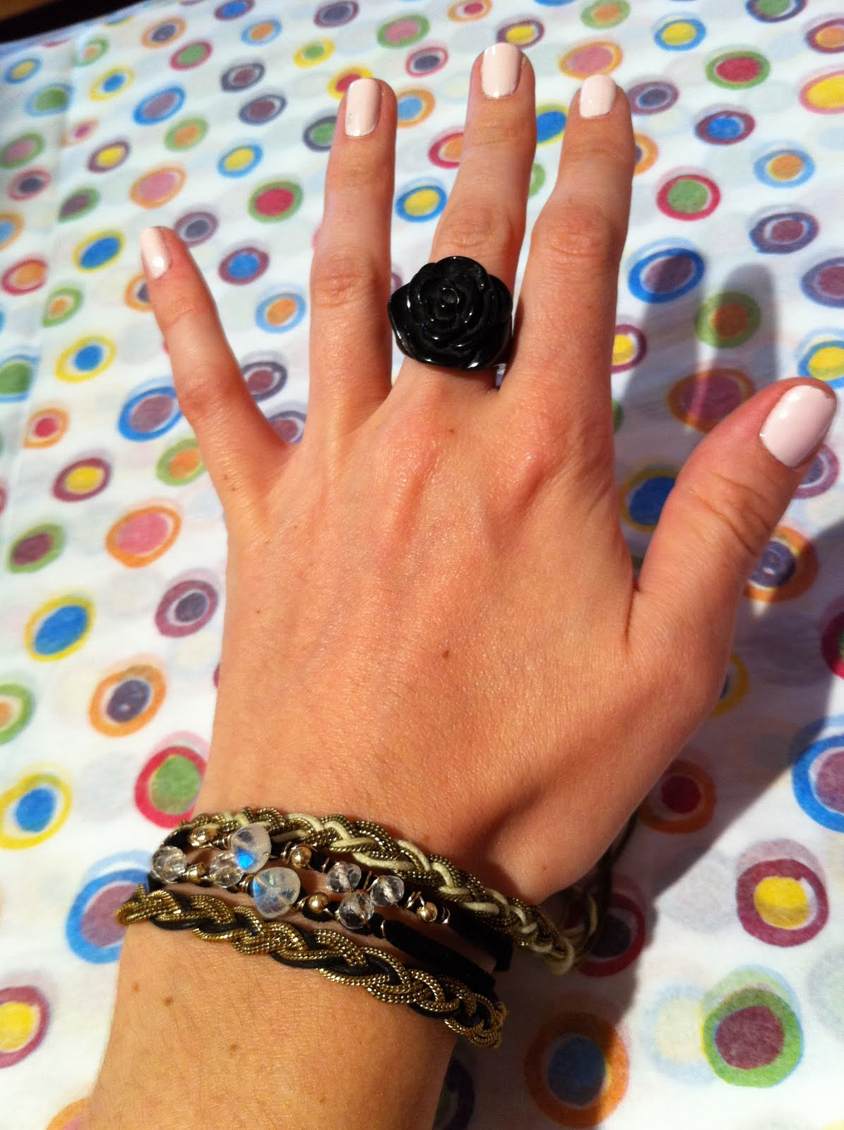 Featured with Sara Danielle's black suede & moonstone double-wrap bracelet, ...