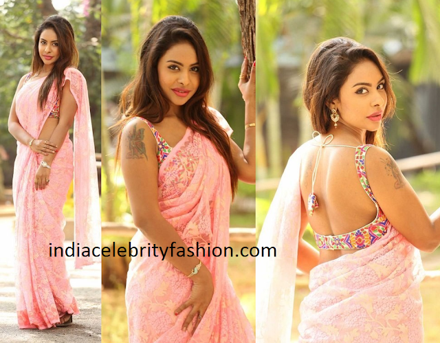Latest Simple Lace Work Saree