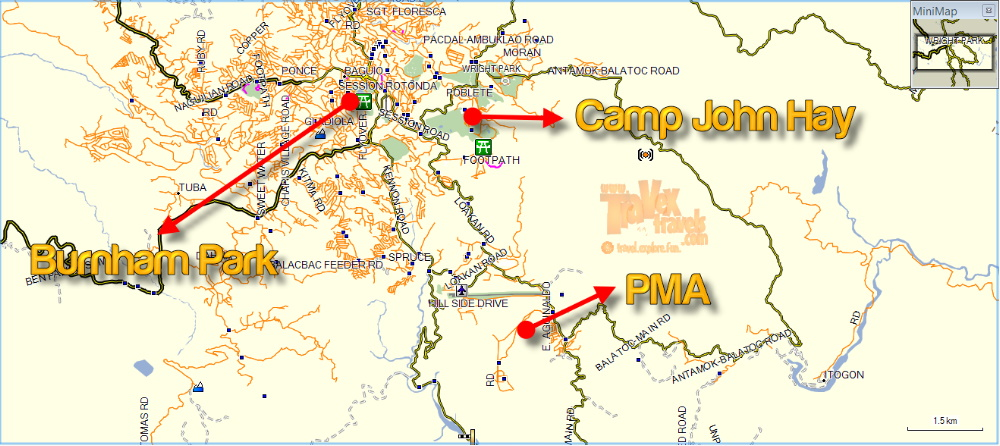 How To Go To Baguio Destinations Camp John Hay And PMA Travex - Baguio map