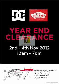 Vans & DC Year End Clearance Sale 2012