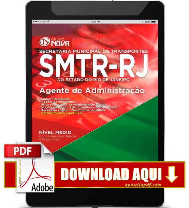 Apostila SMTR RJ 2015 PDF Download Agente de Administração