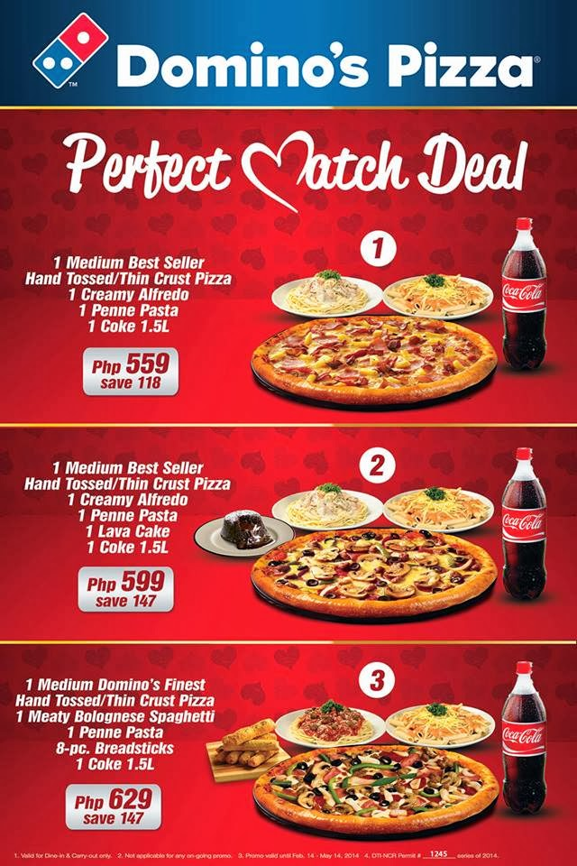 Dominos Deals Of The Day (Avg Rating: | Total Reviews: 5) With Domino's, you can order online to get hot and fresh pizzas delivered to your door in not more than 30 minutes.