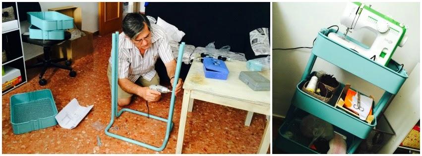 El blog de lorenna tapizar silla despacho - Carrito con ruedas ikea ...