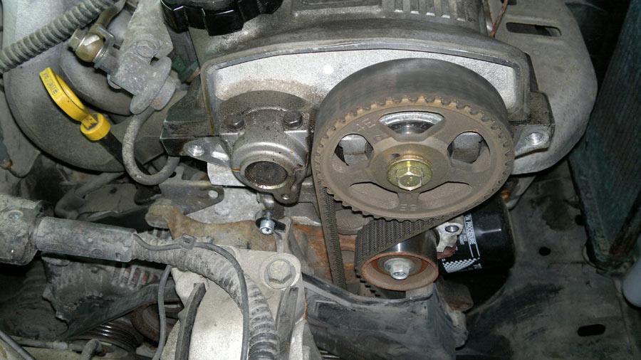 my starlet ep91  1997  inspection of cam belt Toyota JZ Engine Toyota JZ Engine