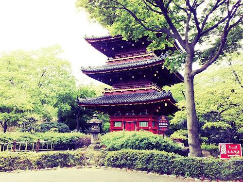 Pagoda Ueno Park Japan