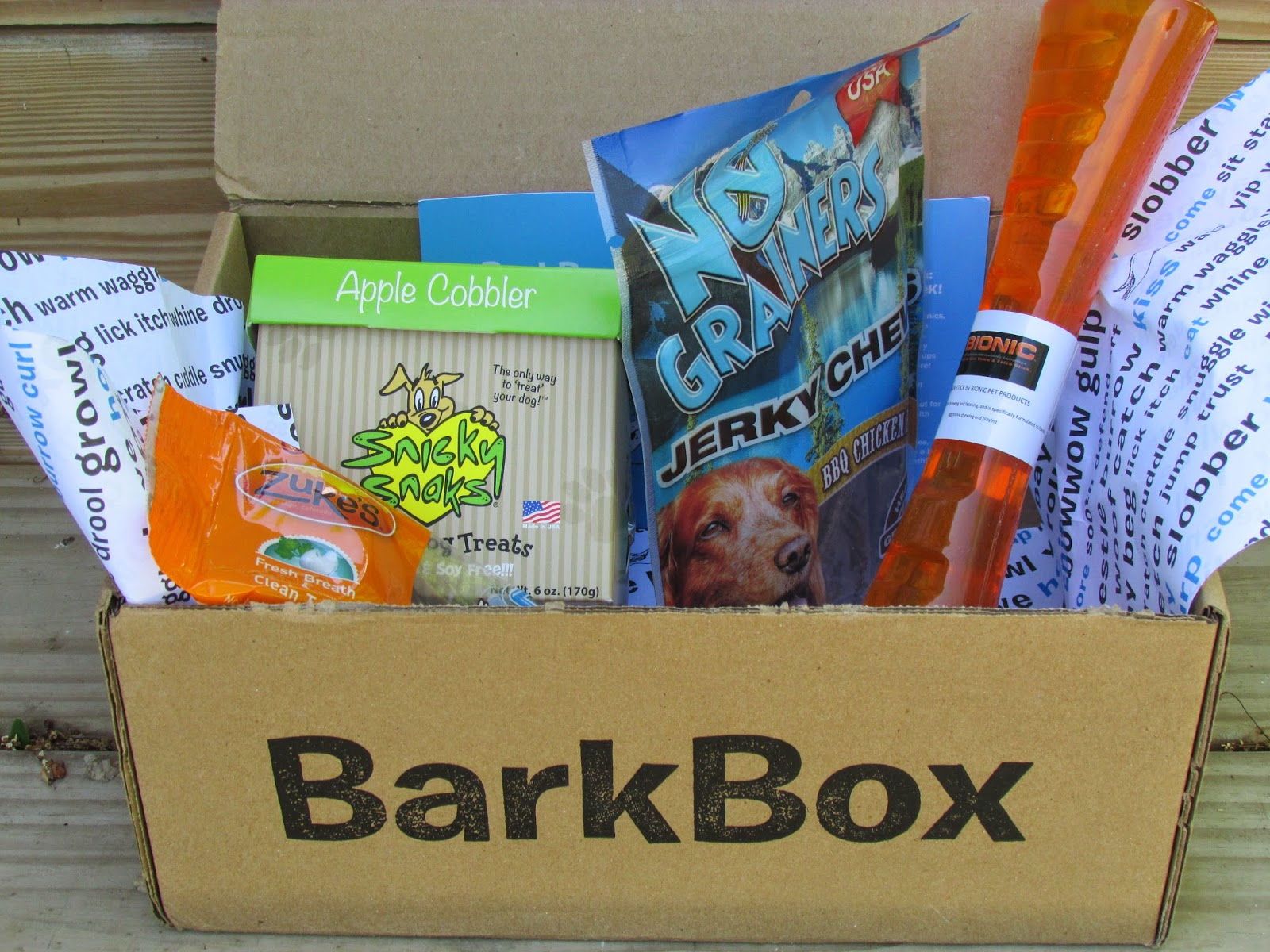 Whats in the may barkbox