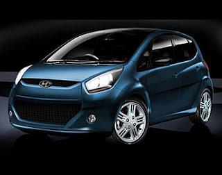 Hyundai Eon in Blue Color