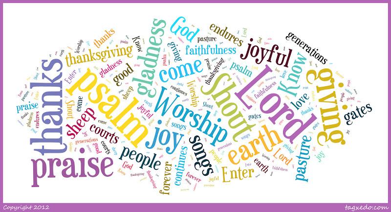 a devotional mosaic words   psalm 100