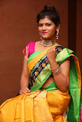 Sangeetha Kamath dazzling saree photos-thumbnail-9
