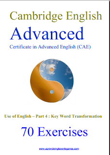 70 CAE  KEY WORD TRANSFORMATIONS