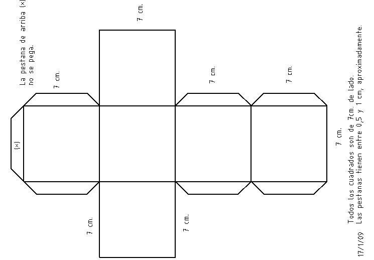 Como hacer un cubo de cartulina imagui - Como hacer cajitas de cartulina ...