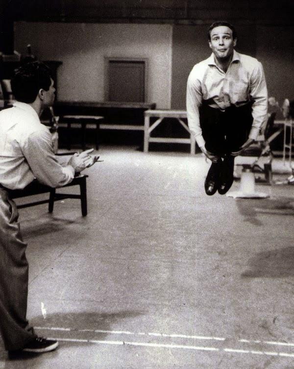 Marlon Brando jump