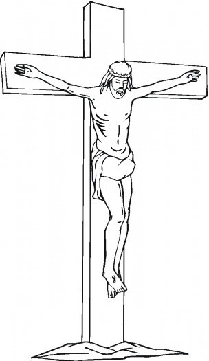 Jesus Crucifixion Coloring Pages For Kids