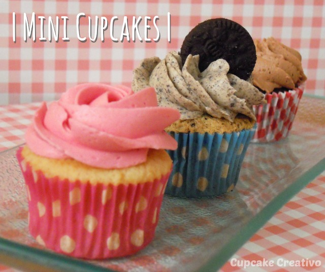 Mini Cupcakes Vainilla Oreo Chocolate